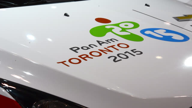 toronto ontario canadafebruary 22 2014 the games will be held next year in the city the canadian international auto show is a traditional annual... - bonnet stock videos & royalty-free footage