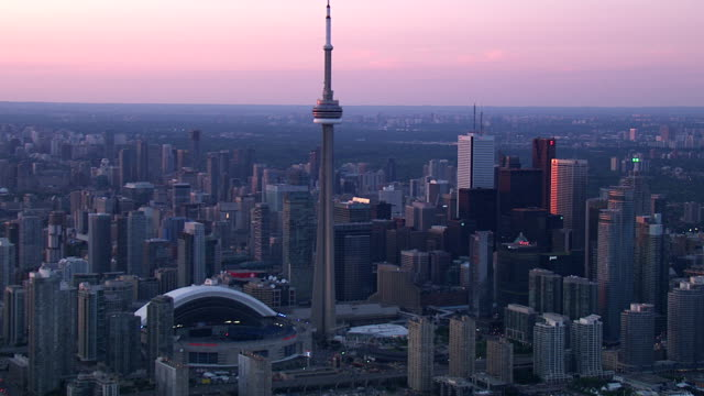 toronto ontario city skyline - canada stock videos & royalty-free footage