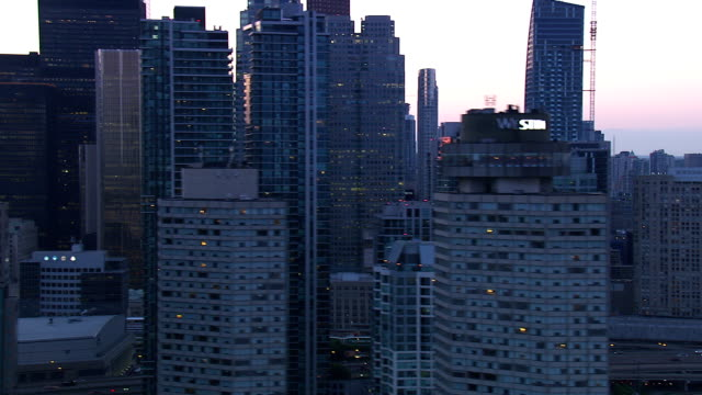 toronto ontario city skyline - skyscraper stock videos & royalty-free footage