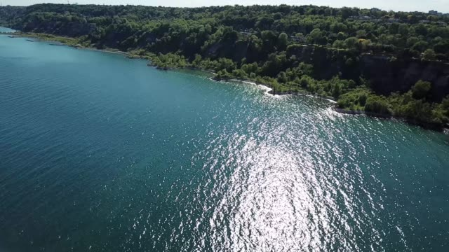 toronto shore cliffs with lake - cliff stock videos & royalty-free footage