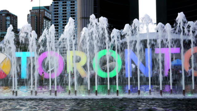 toronto sign in nathan phillips square - toronto stock videos & royalty-free footage