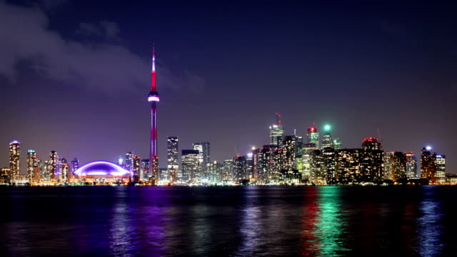 toronto skyline, canada - toronto stock videos & royalty-free footage