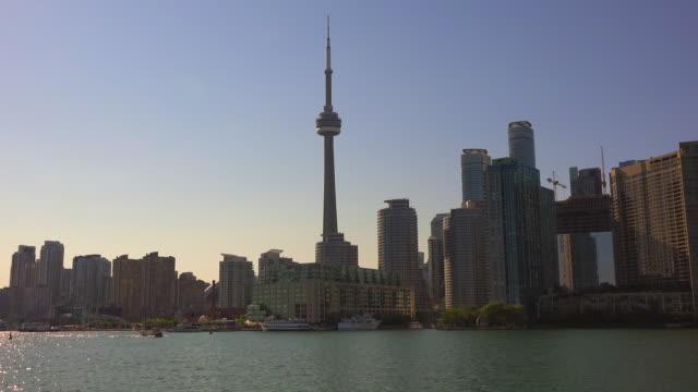 Toronto Skyline from Lake Ontario in Daytime- Canada