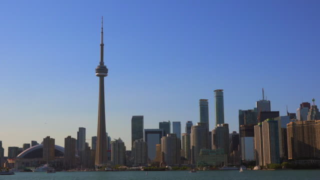 Toronto Skyline from Lake Ontario in Daytime- Canada
