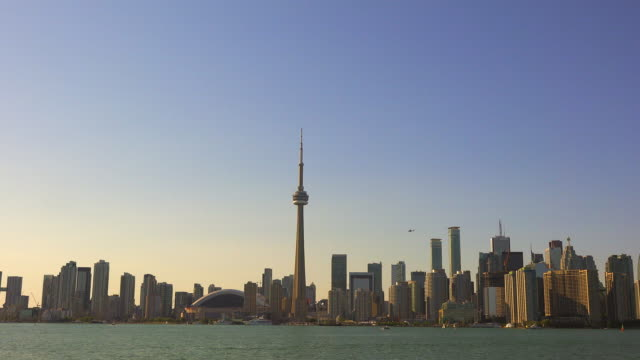 Toronto Skyline from Lake Ontario in Daytime, Zoom Out- Canada