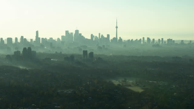 Toronto Skyline - Hazy Fall Morning Zoom