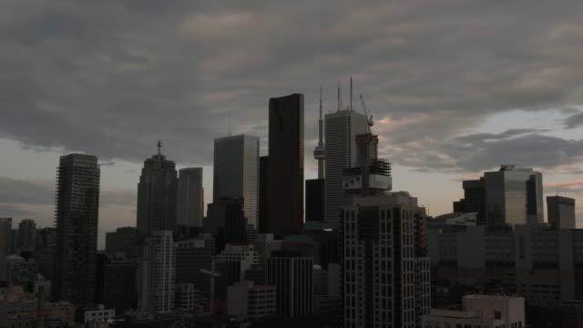 Toronto skyline morning timelapse