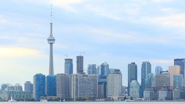 Vue sur la ville de Toronto le temps qui passe