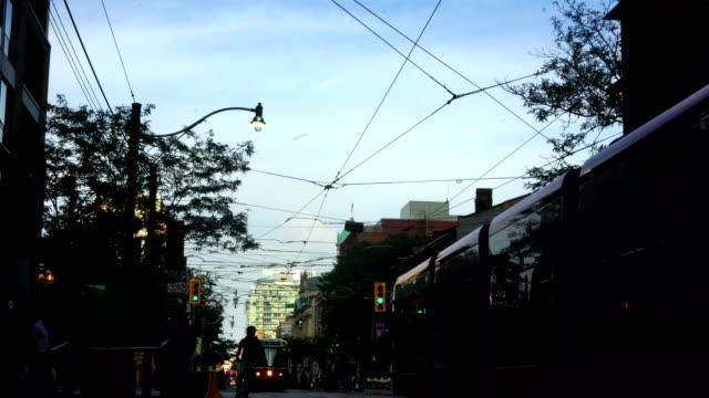 toronto streetcar - public transport stock videos & royalty-free footage