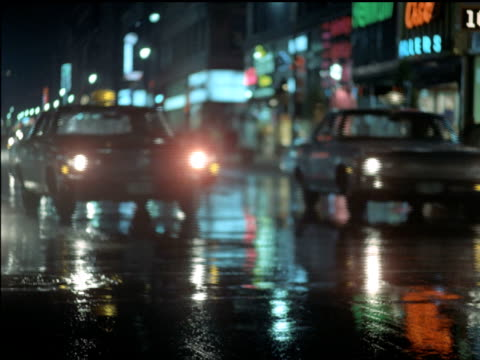 1969 Toronto streets at night