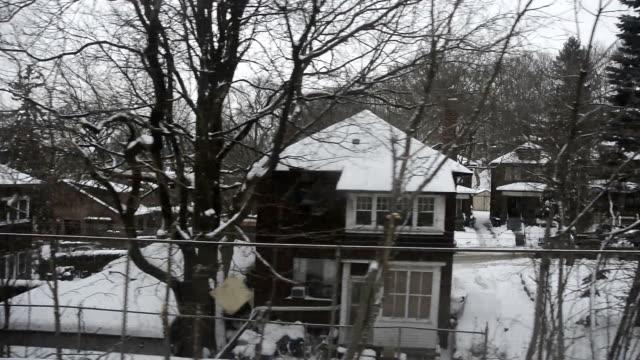 toronto ttc subway rider's view in winter - トロント点の映像素材/bロール