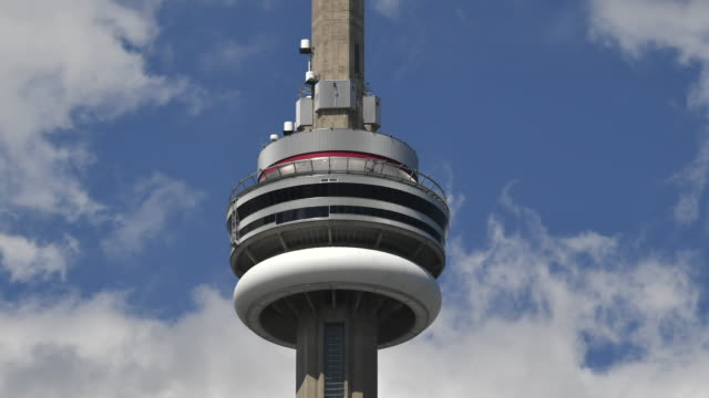 Toronto,Canada: CN Tower time lapse in beautiful blue clear sky day.