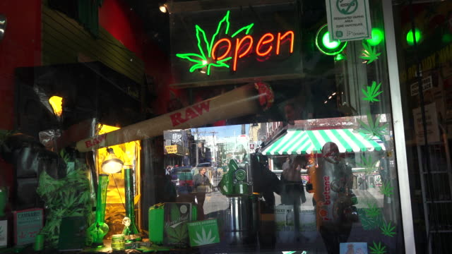 Toronto,Canada: Open Cannabis or Marihuana dispensary in Kensington Market.