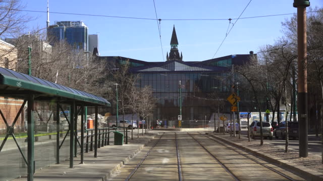 Toronto,Canada: Spadina Avenue, point of view image from a TTC streetcar which usually run the route.