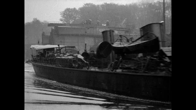 torpedo flotilla visit to manchester 1901 - canal stock videos & royalty-free footage