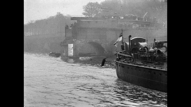 torpedo flotilla visit to manchester 1901 - swing bridge stock videos & royalty-free footage