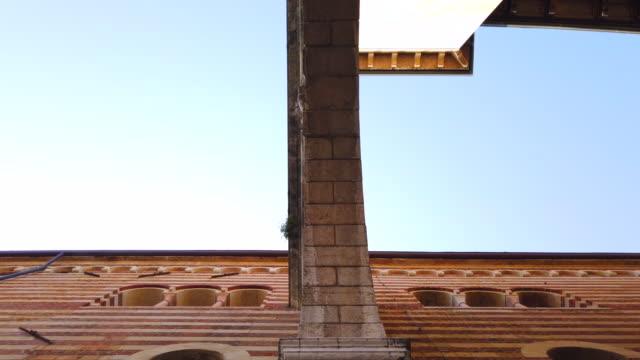 torre dei lamberti entrance in verona - italian currency stock videos & royalty-free footage