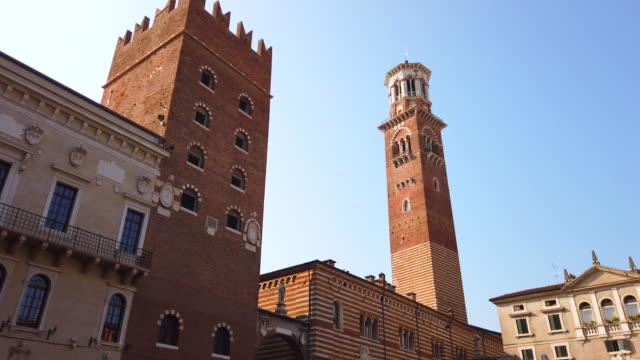 torre dei lamberti - italian currency stock videos & royalty-free footage