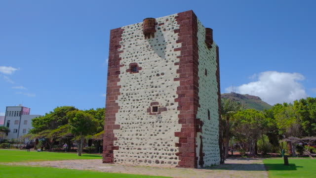 Torre del Conde is a Castilian fortress in the city park of San Sebastián - Canary Islands La Gomera in the province of Santa Cruz de Tenerife - Spain