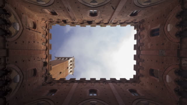 torre del mangia and palazzo pubblico, siena - torre del mangia stock videos and b-roll footage