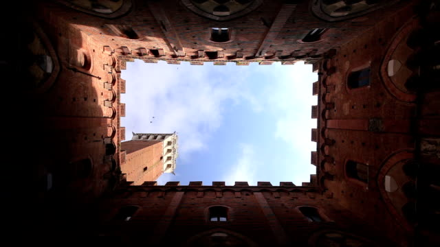 torre del mangia in siena, italy. - torre del mangia stock videos and b-roll footage