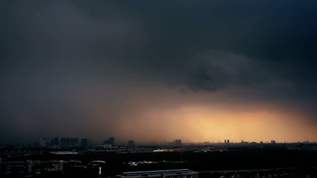 torrential downpour in the city - bangkok stock videos & royalty-free footage