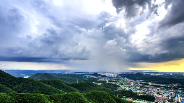 torrential rain shaft / gyeonggi-do, south korea - raining cats and dogs stock videos & royalty-free footage