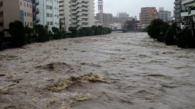 torrential rain triggered floods and landslides in eastern japan on thursday prompting the weather agency to expand its emergency warnings to include... - self defense stock videos and b-roll footage