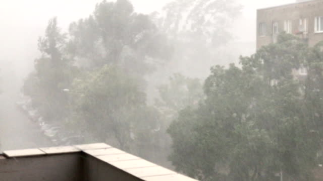 Torrential rains with hail accompanying sudden outbursts of storms in  Polish city