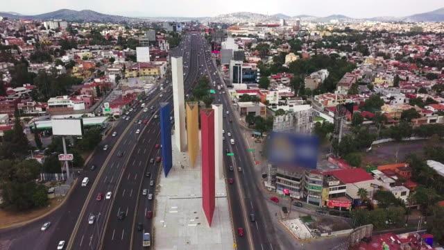 torres de satelite and periferico highway, over estado de mexico - 1958 stock videos & royalty-free footage