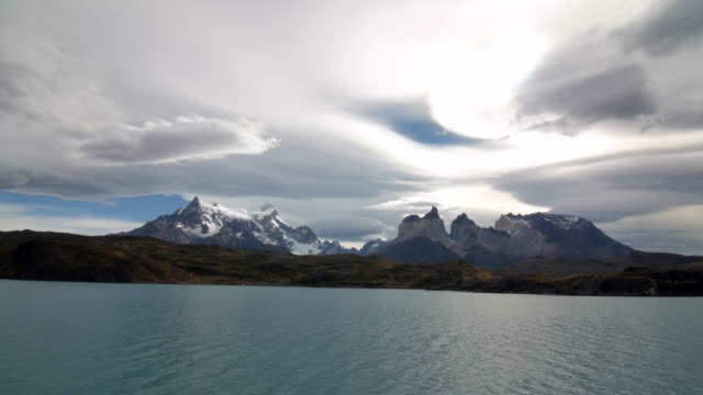 Torres del Paine mountains from the distance