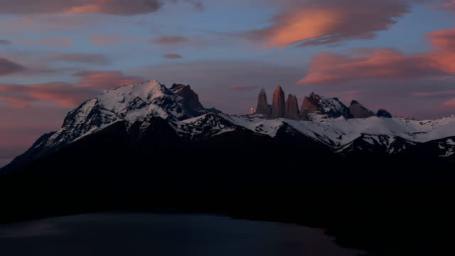 torres del paine national park, chile patagonia - azul stock videos & royalty-free footage