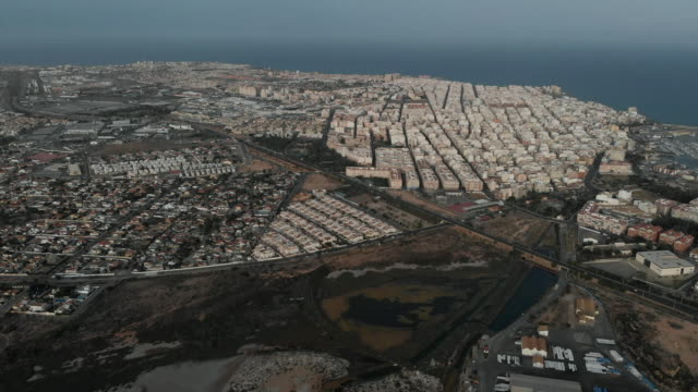 torrevieja cityscape - nautical vessel点の映像素材/bロール