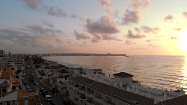 torrevieja rocky coastline in the morning - rocky coastline stock videos & royalty-free footage