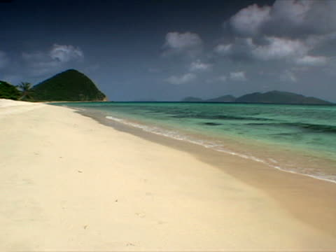tortola: long view of long bay beach - artbeats stock videos & royalty-free footage