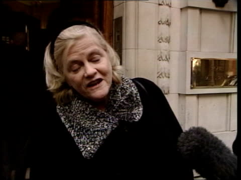 tory leadership challenge: vote of confidence; ann widdecombe mp interviewed sot - i don't retract a single word i said in 1997 but equally i said it... - ann widdecombe stock videos & royalty-free footage