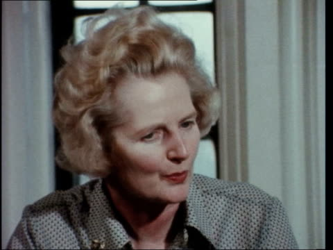 "tory leadership; england: cumbria: penrith: margaret thatcher: tory mp: sof: ""i think they felt.................................comments he wishes""... - margaret thatcher stock videos & royalty-free footage"