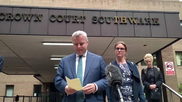 tory mp christopher davies has been fined £1500 and ordered to carry out 50 hours' community service submitting two false expenses invoices for... - サウスワーク刑事法院点の映像素材/bロール