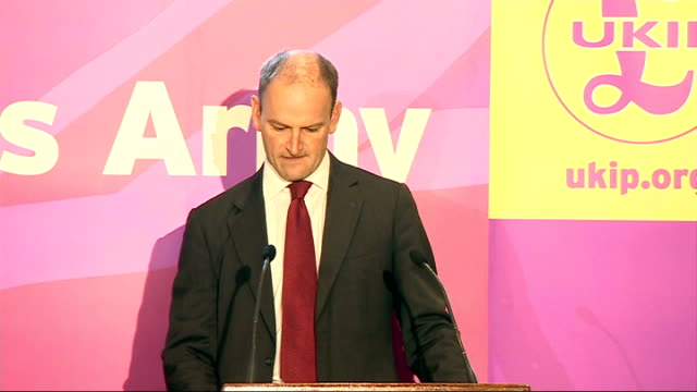 tory mp douglas carswell defects to ukip and triggers by-election; england: london: int douglas carswell mp press conference sot - i am today leaving... - politics and government stock videos & royalty-free footage