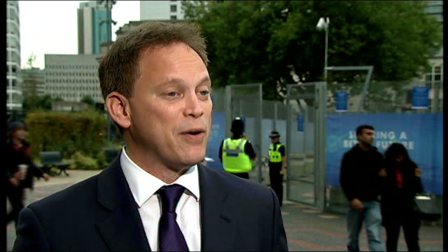 tory mp mark reckless defects to ukip on eve of conservative party conference london ext grant shapps mp interview sot - grant shapps stock videos and b-roll footage
