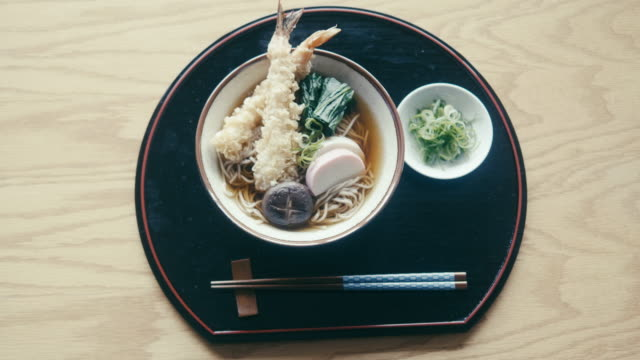 toshikoshi soba (new year's eve noodles) - shiitake stock videos & royalty-free footage
