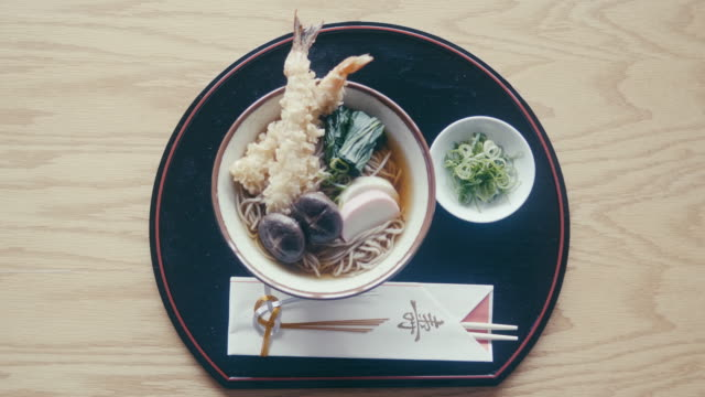 toshikoshi soba (new year's eve noodles) - table stock videos & royalty-free footage
