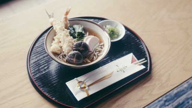 toshikoshi soba (new year's eve noodles) - soba stock videos & royalty-free footage