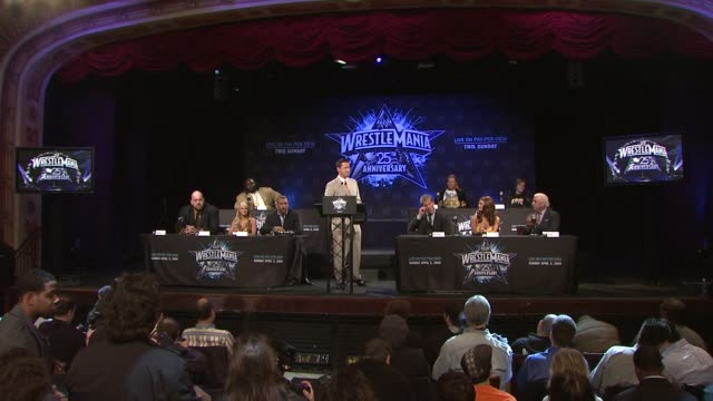 Toss Grisham on WrestleMania event's details at the WrestleMania 25th Anniversary Press Conference at New York NY
