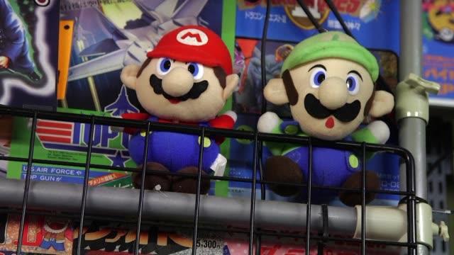 tossed aside as outdated junk by some old videogames such as donkey kong and super mario bros are now getting a new lease of life in tokyos vibrant... - lease agreement stock videos & royalty-free footage