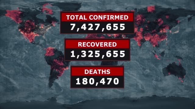total confirmed, recovered, deaths virus graphic, novel coronavirus ncov spreading all over the world, worldwide flu epidemic spreads every continent, global deadly viral infection, satellite view of influenza virus affected areas. stock video - computer virus stock videos & royalty-free footage