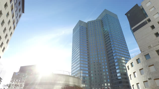 total in the parisian business district of la défense - office block exterior stock videos & royalty-free footage