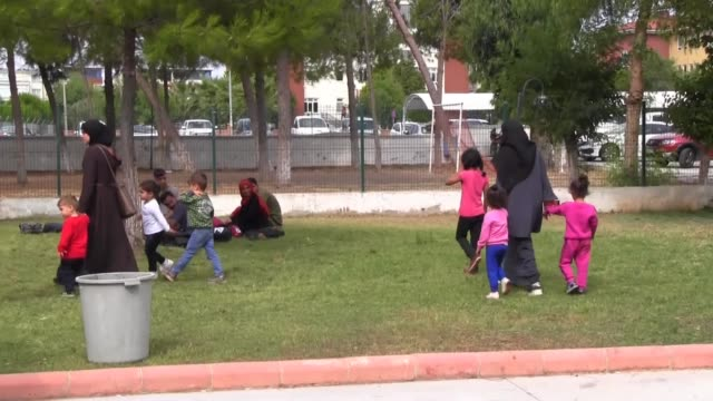 a total of 107 undocumented migrants were held in the aegean province of aydin turkey on july 17 2019 as they attempted to illegally cross into greece - aydın province stock videos and b-roll footage