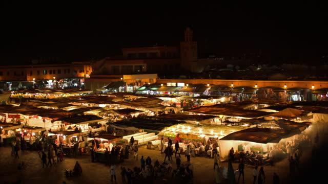Total shot of Jemaa el fna at night.