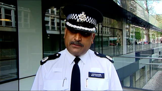 tottenham court road closed during siege: man arrested; police vehicles at scene armed police officer on rooftop london: commander mak chishty... - tottenham court road stock videos & royalty-free footage